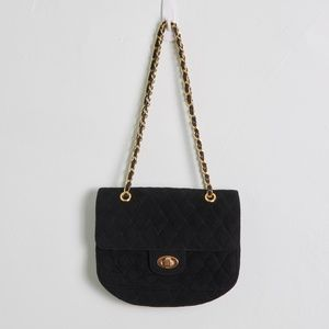 Brooks Brothers Quilted Faux Suede Purse w/ Chain